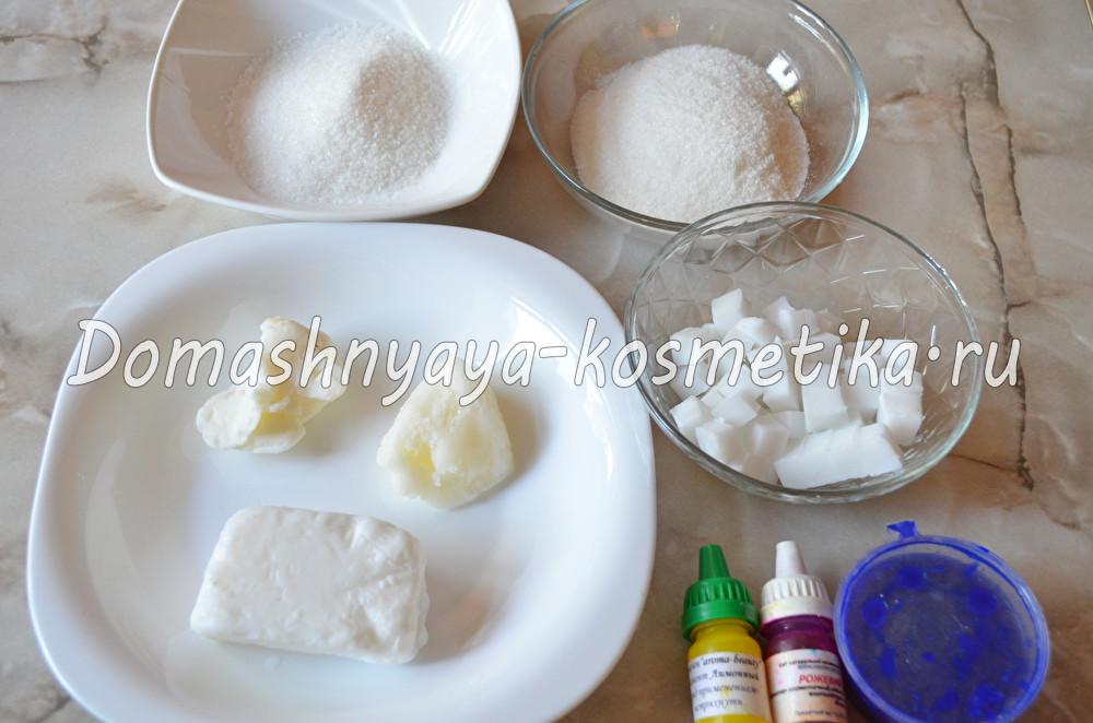 Сахарный скраб на мыльной основе своими руками7