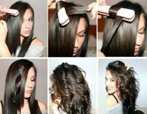 Как придать волосам объем у корней с помощью утюжка