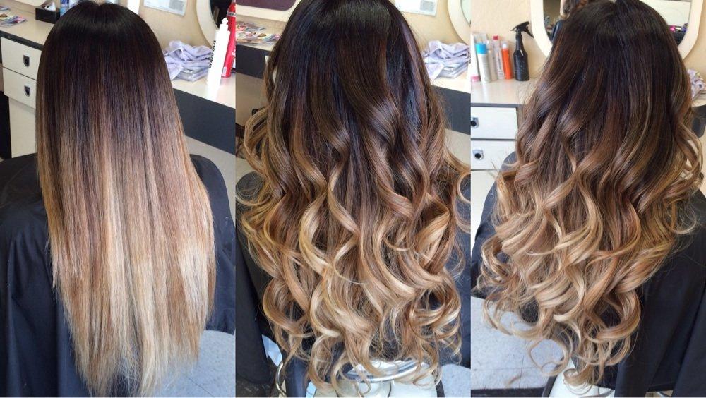 Балаяж на русые волосы: фото до и после