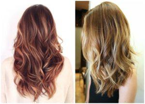 Виды окрашивания волос: фото с названием цвета