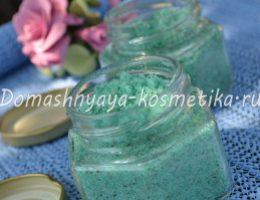 Миниатюра к статье Сахарный скраб для тела «Мятный зефир» с зеленой глиной